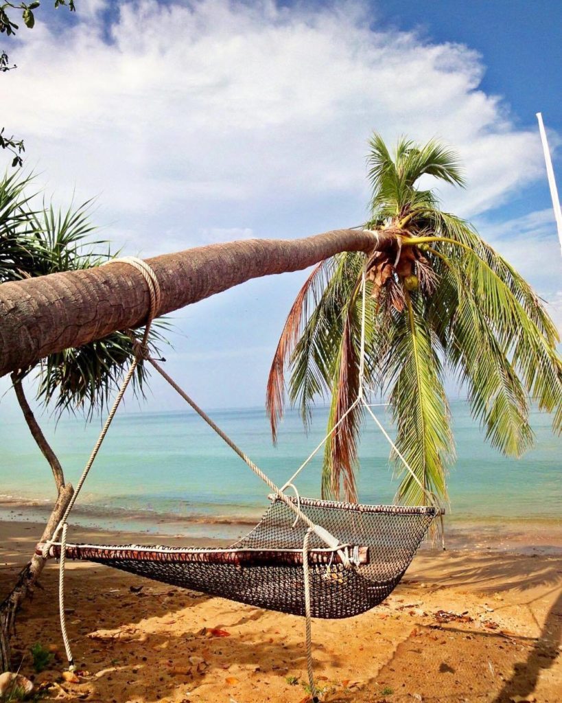 Koh Lanta Thailand Palmen Hängematte