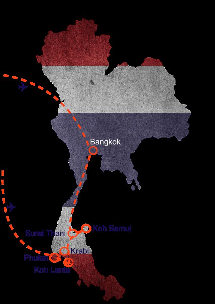 Thailand Reiseroute