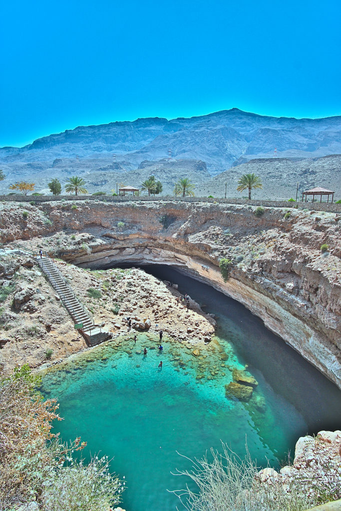 Oman Reiseroute- Bimmah Sinkhole