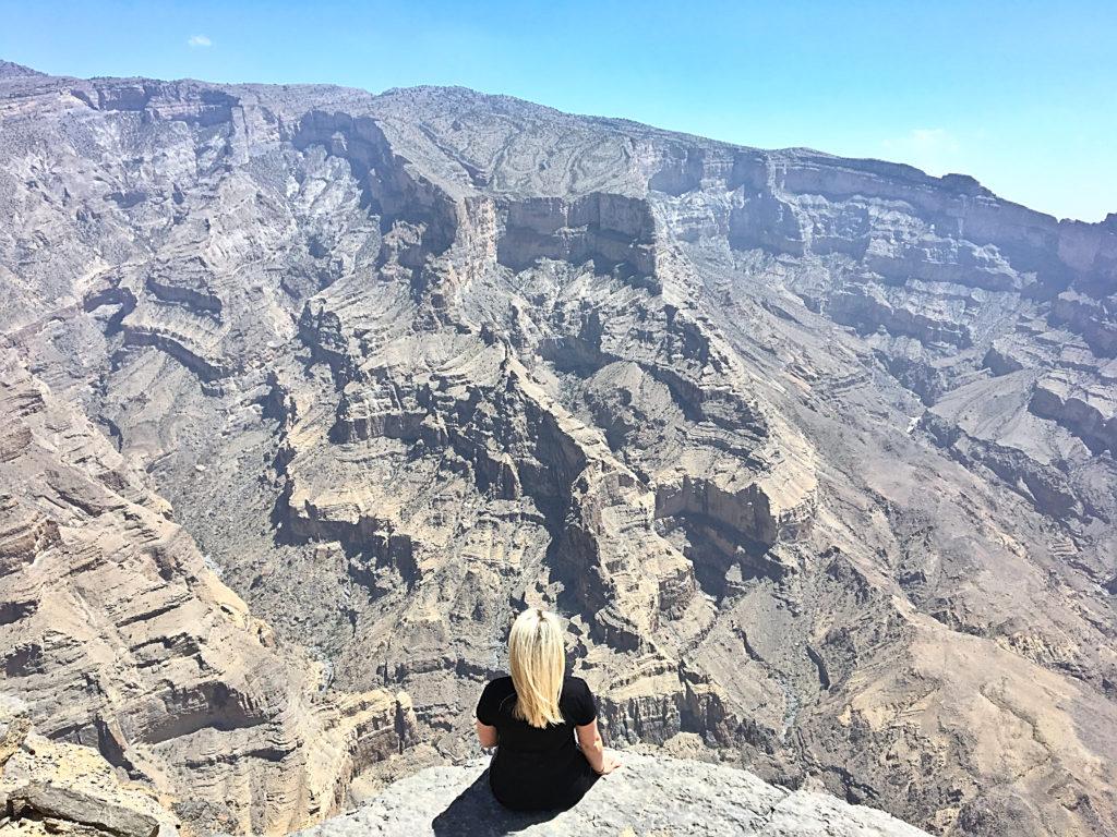 Oman Reiseroute - Jebel Shams - Canyon