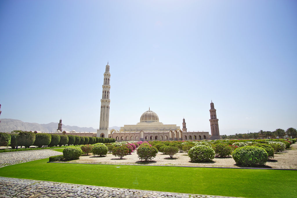Oman Reiseroute - Muscat Muskat - Sultan Quaboos Moschee