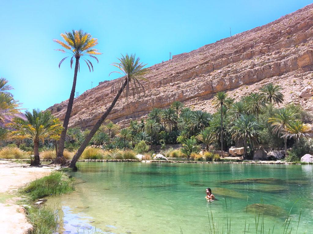 Oman Reiseroute - Wadi Khalid - Oase