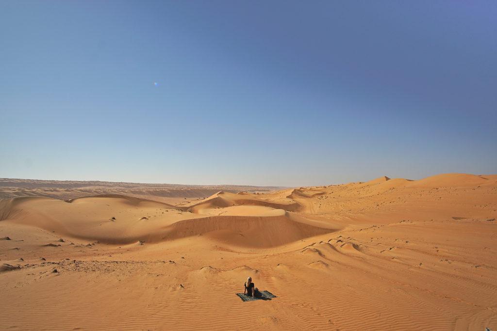 Oman Reiseroute - Wahiba Sands - Wüste