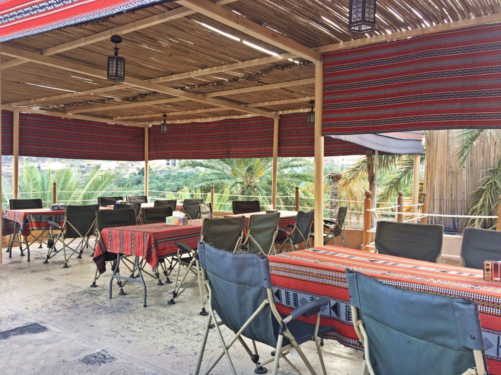 Misfah Old House - Misfat al Abriyeen Oman - Dachterrasse Abendessen - Traditionelles Lehmhaus Misfat al Abriyeen