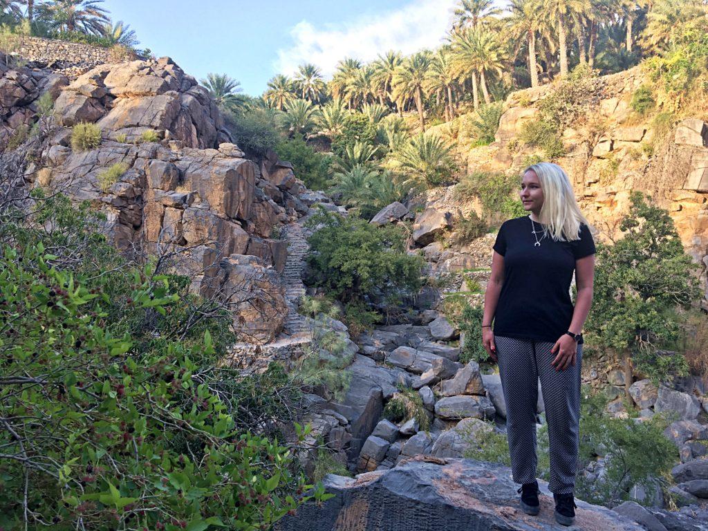 Misfah Old House - Misfat al Abriyeen Oman - Spaziergang Palmen Plantagen - Traditionelles Lehmhaus Misfat al Abriyeen
