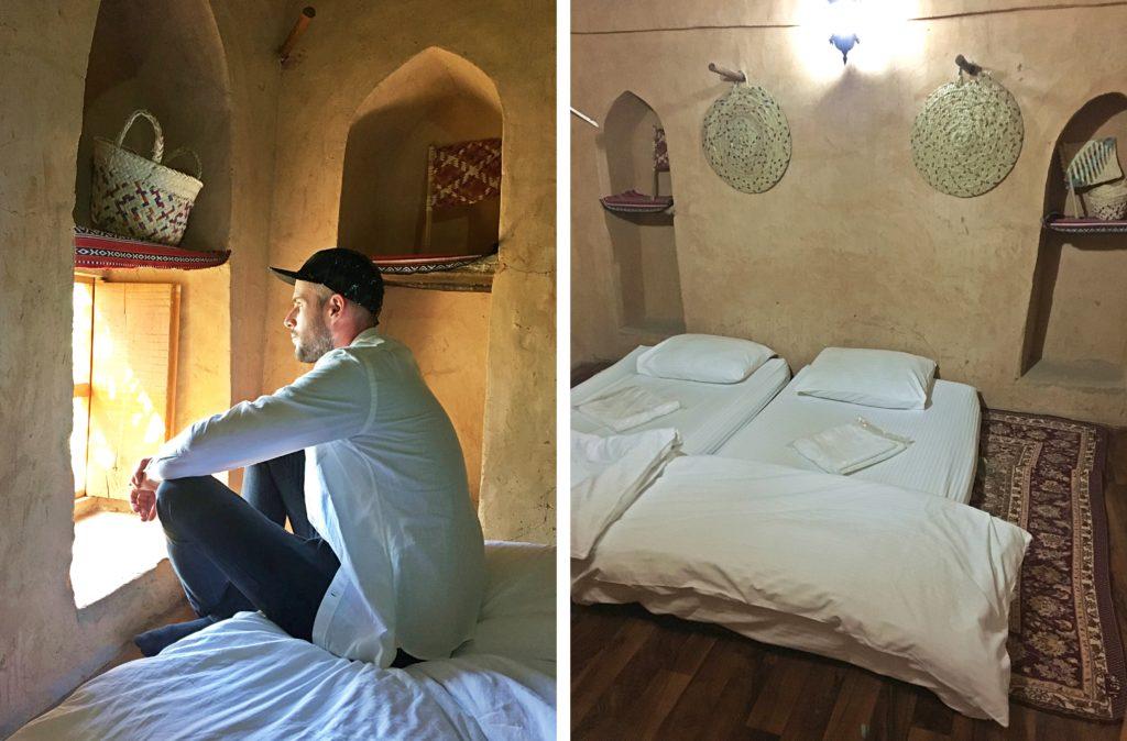 Misfah Old House - Misfat al Abriyeen Oman - Zimmer Bett - Traditionelles Lehmhaus Misfat al Abriyeen