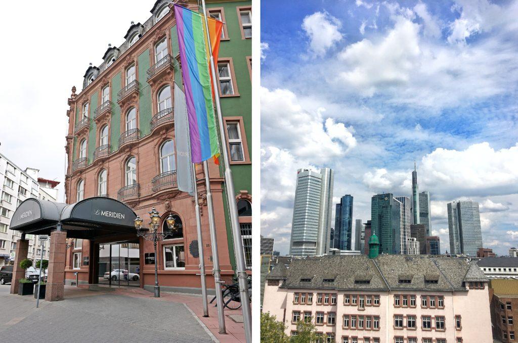 Le Méridien Frankfurt - Zentrales Hotel Frankfurt Trip - Zimmer modern renoviert Ausblick Mainhattan - Altbau Eingang - Ausblick Zimmer