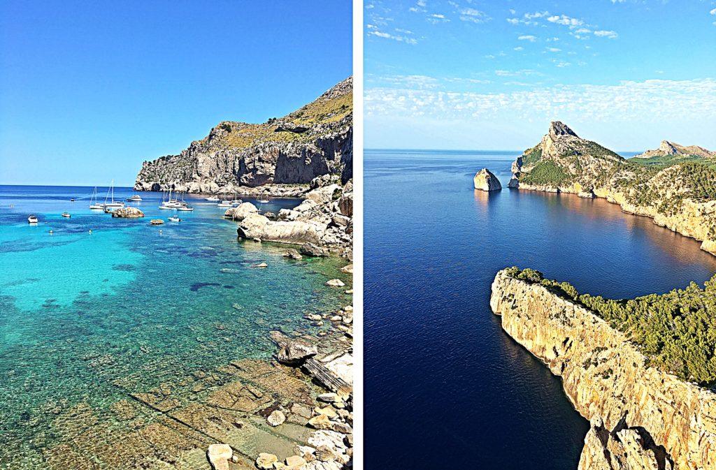 Spanien - Kurztrip MallorcaTagesausflug mit Abwechslung - Cap Formentor - Bucht Cala Figuera - Mirador es Colomer Aussichtsplattform Aussicht